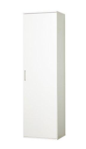 WILMES 40148-75 0 75 Schrank Ronny, 1 Tür, Dekor Melamin, 50 x 178 x 39 cm, weiß