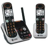 AT&T 32200 DECT 6.0 Cordless Phone, Black/Silver, 2 Handsets