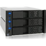 ICY DOCK FlexCage MB973SP-2B Tray-less 3 x 3.5 Inch HDD in 2 x 5.25 Inch Bay SATA Cage - Front USB 3.0 Hub