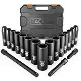 TACKLIFE 1/2-Inch Drive Master Deep Impact Socket Set, Metric, CR-V, 6 Point, 18-Piece Set - HIS1A ()