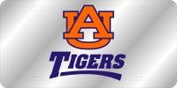 WinCraft Auburn University Au Tigers Silver Background L0082967 Crystal Mirror License Plate