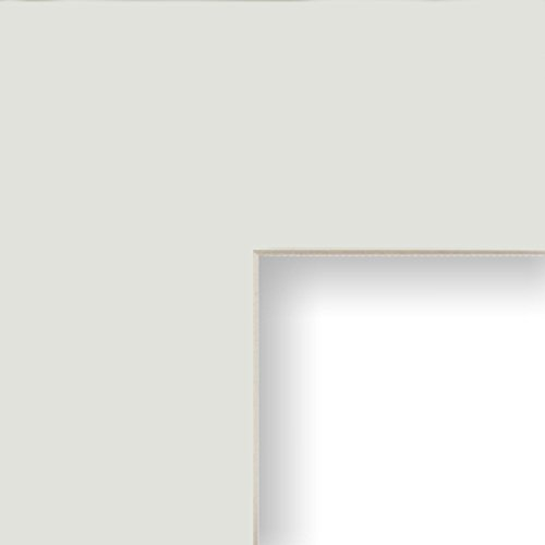 Craig Frames B130 14x16-Inch Mat, Single Opening for 9x12-Inch Image, Silver Mist with Cream Core