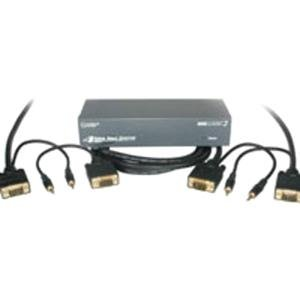 C2G/Cables to Go 50104 4-Port UXGA Monitor Splitter/Extender with Monitor Cables (Gray)