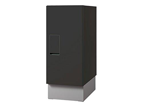 NASTA 宅配ボックス REGULAR (KS-TLT240-S500) ブラック 単体 高さ500 幅240 奥行400 B079YL5GS5 ブラック