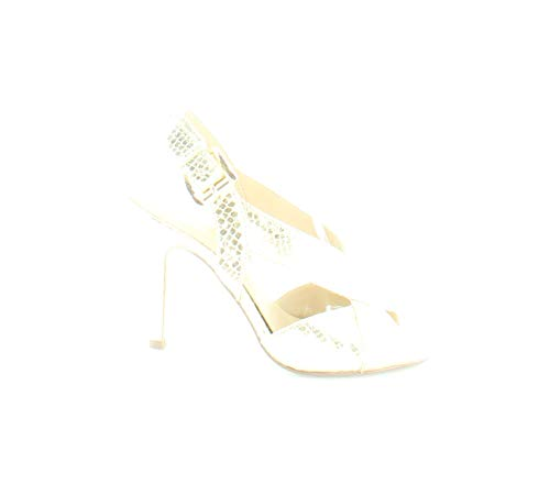Michael Michael Kors Womens Becky Leather Open Toe Special, Light Gold, Size 5.5