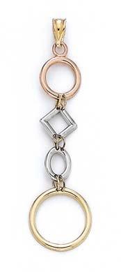 Tricolore 14 Carats Pendentif-JewelryWeb