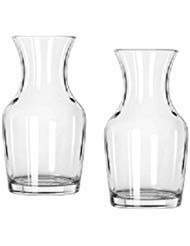 Small Decanter - Libbey Single Serving Wine Carafe - 6.5 oz Pack of 2