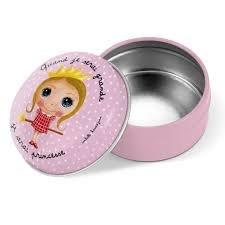 Label tour, Boîte à dents de lait en métal princesse