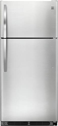 Kenmore 60505 18 cu. ft. Top Freezer Refrigerator with Glass Shelves in Stainless Steel