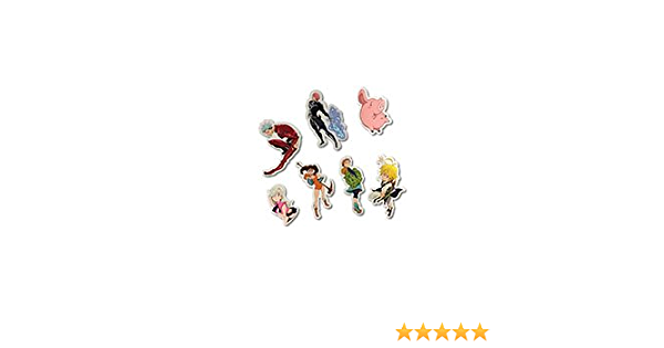 2 Great Eastern Entertainment 85377  Seven Deadly Sins Multi-Color Meliodas The Dragons Sin of Wrath PVC Keychain