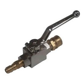 MTM Hydro 20.0043 Ball Valve 3//8 F with Brass Coupler and Plated Steel Plug