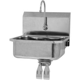 SANI-LAV 505L Wall Mount Sink With Double Knee Pedal Valve Double Knee Pedal Valve