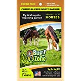0Bug!Zone Horse Fly & Mosquito Barrier Tag, Double Pack