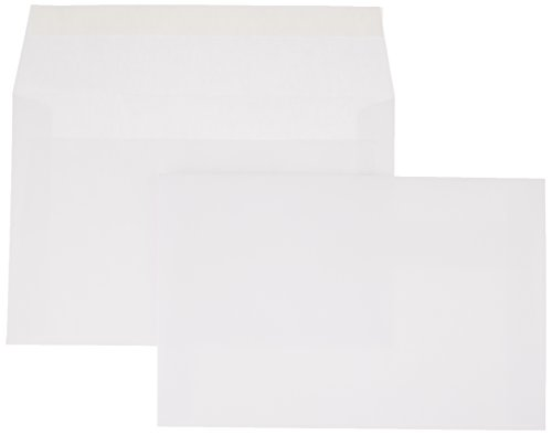 AmazonBasics A9 Blank Invitation Envelopes with Peel & Seal, White, 100-Pack (5-3/4 x 8-3/4 inches)