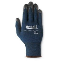 Ansell Edmont 97-505-8 Cut Resistant Glove with Nitrile Palm Coating (Carded), Kevlar/Stainless/Fiber Blend, Size 8, Blue ()