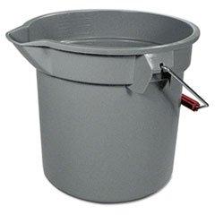 Round Utility Bucket - RCP261400GY - 14 Quart Round Utility Bucket