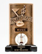 (Resin Spinner Music Trophy)