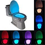 Bathroom Toilet Seat - Smart Bathroom Toilet Nightlight Led Body Motion Activated On Off Seat Sensor Lamp 8 Color - Decal Lid Bidet Black Christmas Sticker Rug Mat Round Pink