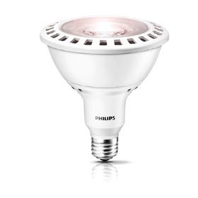 Philips 432013 120 Watt Equivalent LED PAR38 3000K 25 Degree Flood, Dimmable, Silver For Sale