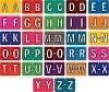 (A-Z STARTER KIT) JEWEL TONE ALPHA LABELS, ROLLS OF 500