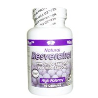 RESVERATROL By Vita Plus, 60 Capsules (pack of 4) by Vita Plus