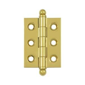 Deltana Polished Hinges (Deltana CH2015CR003 Lifetime Polished Brass 2 x 1.5 inch Hinge with Ball Tips)