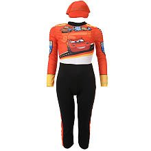 Disney Cars 2 Lightning Mcqueen Pit Crew Classic Boys Costume, Medium/7-8 (Disney Cars Tow Mater Costume)