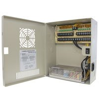 24V DC Power Distribution Box with Circulation Window, 18 Ports, 18 Amps, PTC Fuses, UL / cUL - Distributed by NAC Wire and ()