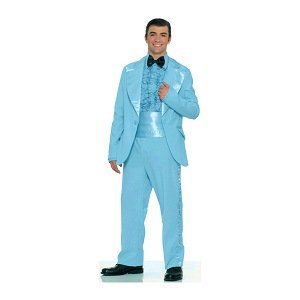 Amazon.com: Prom King Tuxedo (Light Blue) Adult Halloween Costume ...