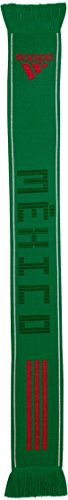 adidas World Cup Soccer Mexico Fashion Scarf, One Size, Green/White/Scarlet