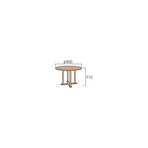 ジャービス商事 丸テーブル0909 『ガーデンテーブル』 無塗装 B06XPR4CH3
