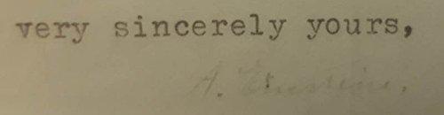 Albert Einstein Typed Letter Signed 08/01/1940