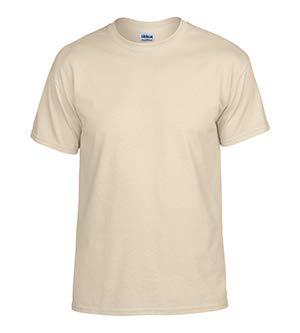 Gildan Mens DryBlend 50 Cotton/50 Poly T-Shirt, Small, Sand