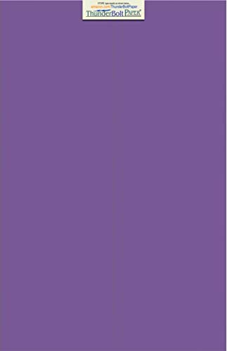 25 Bright Purple Grape 65# Cardstock Paper 12 X 18 (12X18 Inches) Large|Poster Size - 65Cover/45Bond Light Weight Card Stock - Bright Printable Smooth Paper Surface