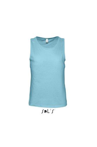 SOL´S Men´s Tank Top Justin, Größe:L, Farbe:Atoll Blue