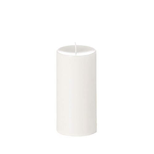 Yummi 4x8 Unscented Column Pillar Candle, White, ea