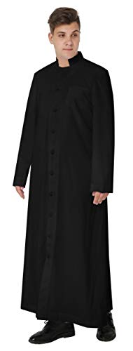 Ivyrobes Unisex Adults Black Roman Pulpit(Clergy) Cassock ((6'0