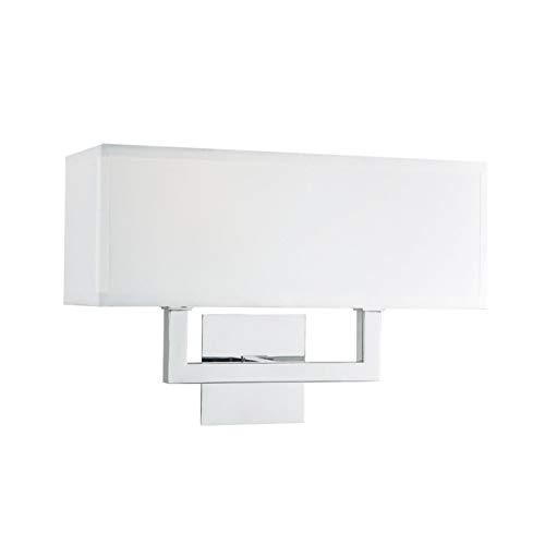 Sofia Wall Sconce 2 Light - Chrome w/ White Fabric Shade - Linea di Liara ()