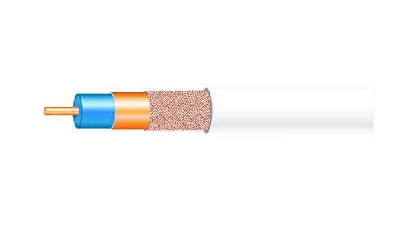 Cable coaxial de interior Cu,CCA en color blanco con cubierta de PVC de 100m: Amazon.es: Electrónica