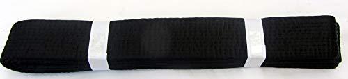 Shihan Karate Black Belt PLAIN Silk Satin 260cm For Men/Women Karate, Kickboxing, Shotokan, Shito-Ryu, Goju Ryu, All Styles Of Martial Arts Karate Black Belt Master Kempo