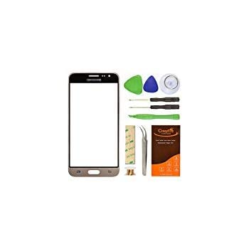Samsung Galaxy J3 J320F Gold Replacement Screen Lens Glass Repair Kit  CrazyFire Front Outer Screen Glass Replacement with Adhesive Tape Tools Kit  1