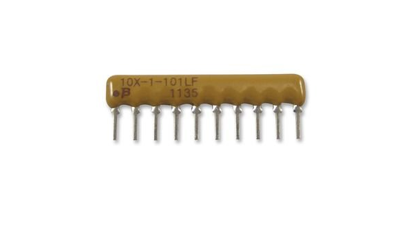 10 pieces ISO RES N//W 120 OHM 0.02 SIP 4 BOURNS 4608X-102-121LF RESISTOR