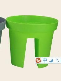 Labu Store 2 pieces Balcony terrace with a special creative green plastic flower pots and pots