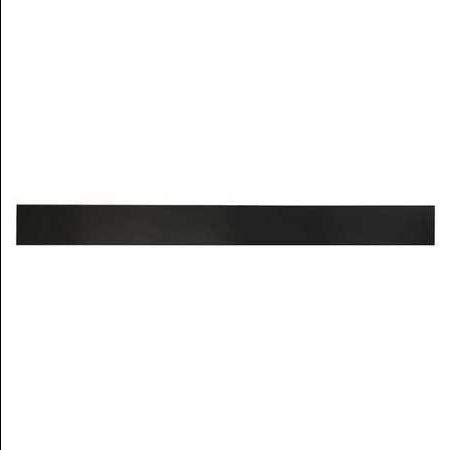 3/4'' Comm. Grade Neoprene Rubber Strip, 2''x36'', Black, 50A, 6050-3/4X
