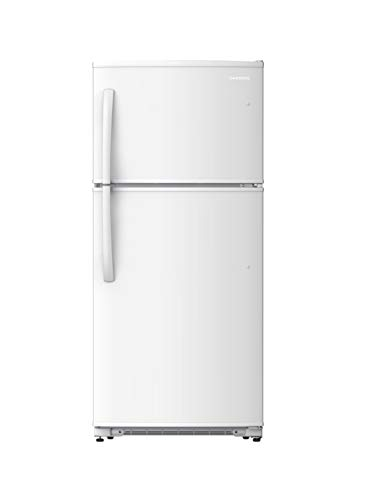Daewoo RTE21GBWCS Top Mount Refrigerator, 21 Cu.Ft, White