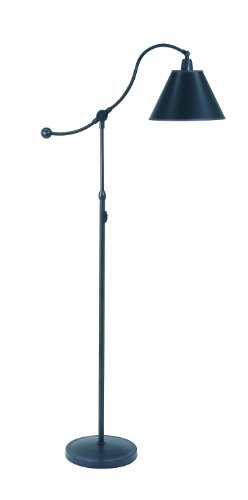 House Of Troy HP700-OB-BP Hyde Park Portable Floor Lamp, Black Parchment Shade, Oil Rubbed Bronze