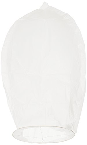 ShopperChoice 50pc WhiteSkyLantern1 Chinese Lanterns, Sky Fly Candle Lamp, White Paper, 4