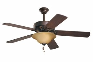Wood Ceiling Blade - Emerson CF713ORB Pro Series Energy Star 50-inch Dual Mount Ceiling Fan with Reversible Blades, 5-Blade Ceiling Fan with LED Lighting
