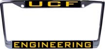 WinCraft Central Florida University of L314250 Inlaid Metal LIC Plate Frame