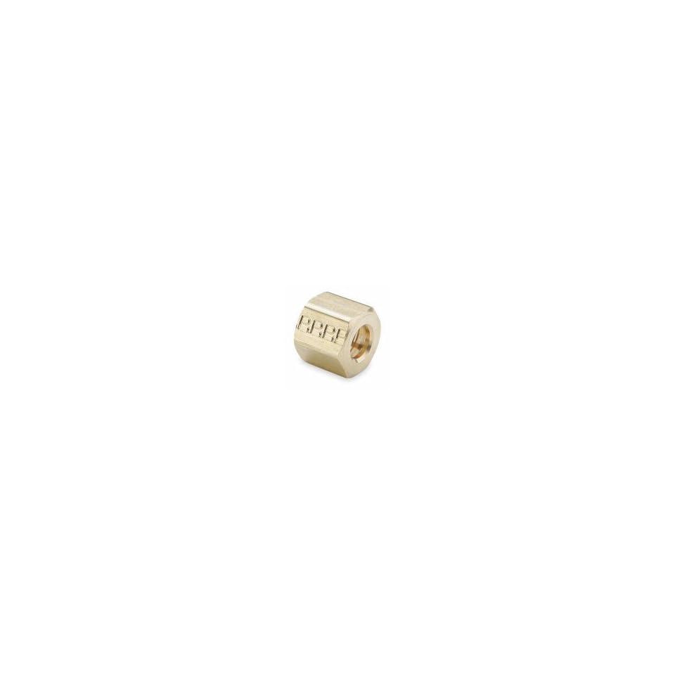 PARKER 61C 2 Nut,Compression,Brass,1/8 In Tube,PK 10